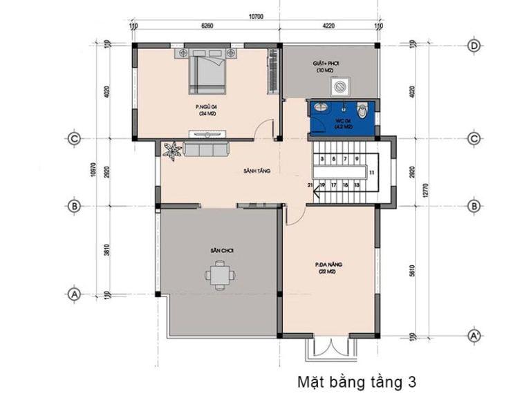 biệt thự tân cổ điển 3 tầng mái thái 7