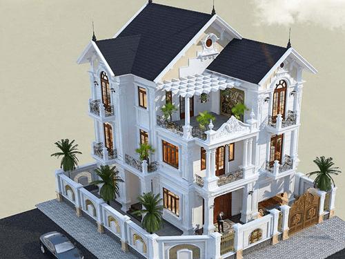 Biệt thự cổ điển 3 tầng mái thái
