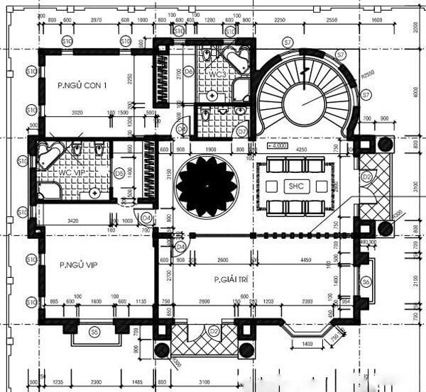 biệt thự 4 tầng 14x16m tân cổ điển