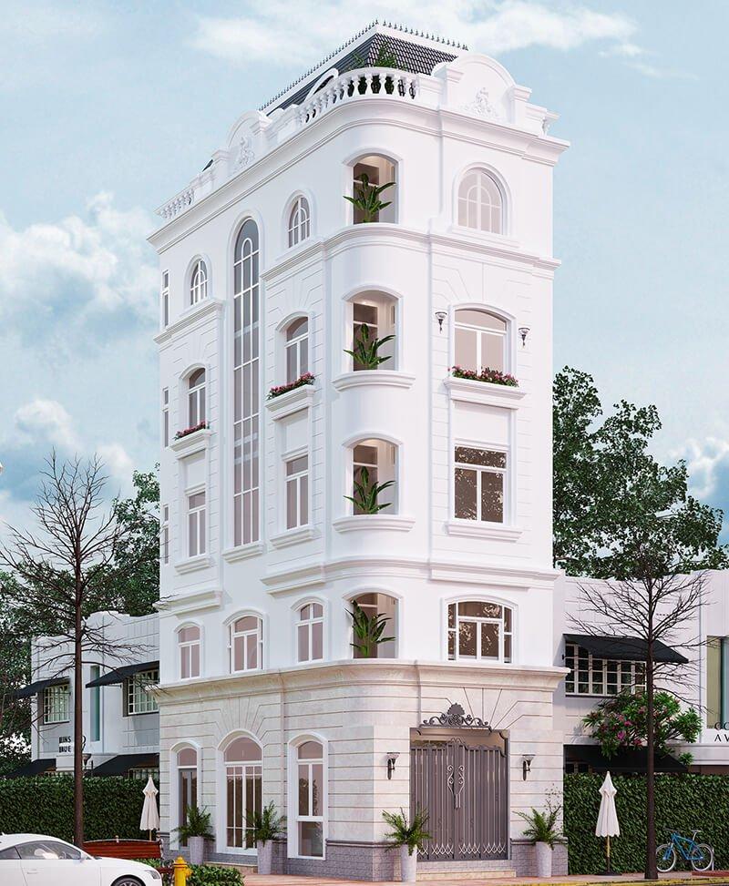biệt thự tân cổ điển 5 tầng