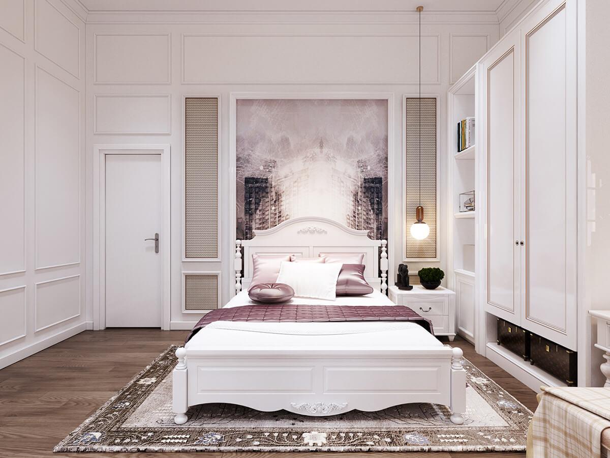 biệt thự tân cổ điển 8x20m phòng ngủ