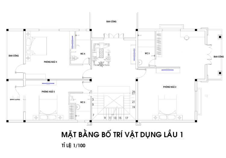 biệt thự tân cổ điển 8x22m