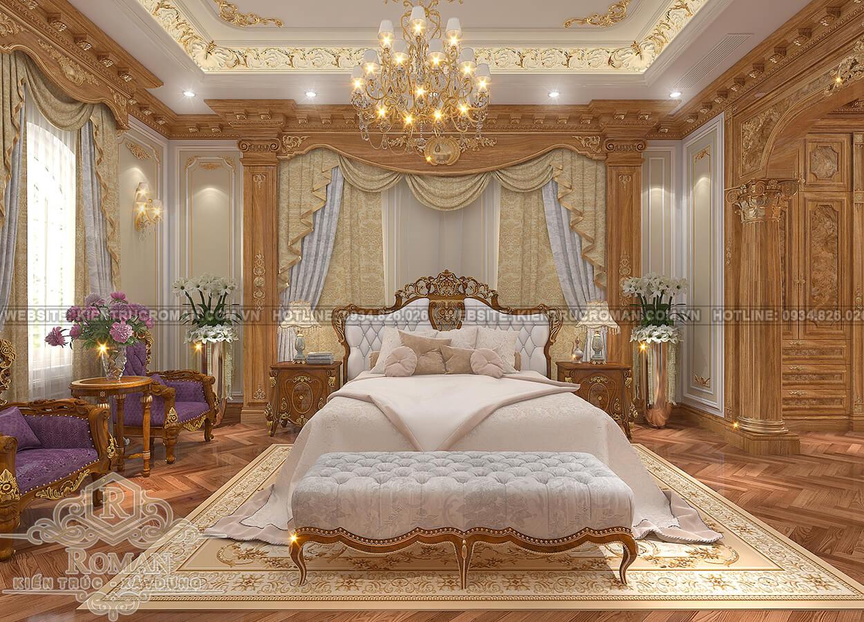 biệt thự tân cổ điển có tầng hầm phòng ngủ master