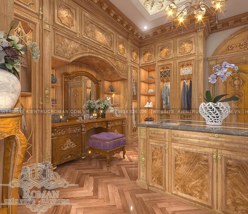 biệt thự tân cổ điển có tầng hầm phòng thay đồ