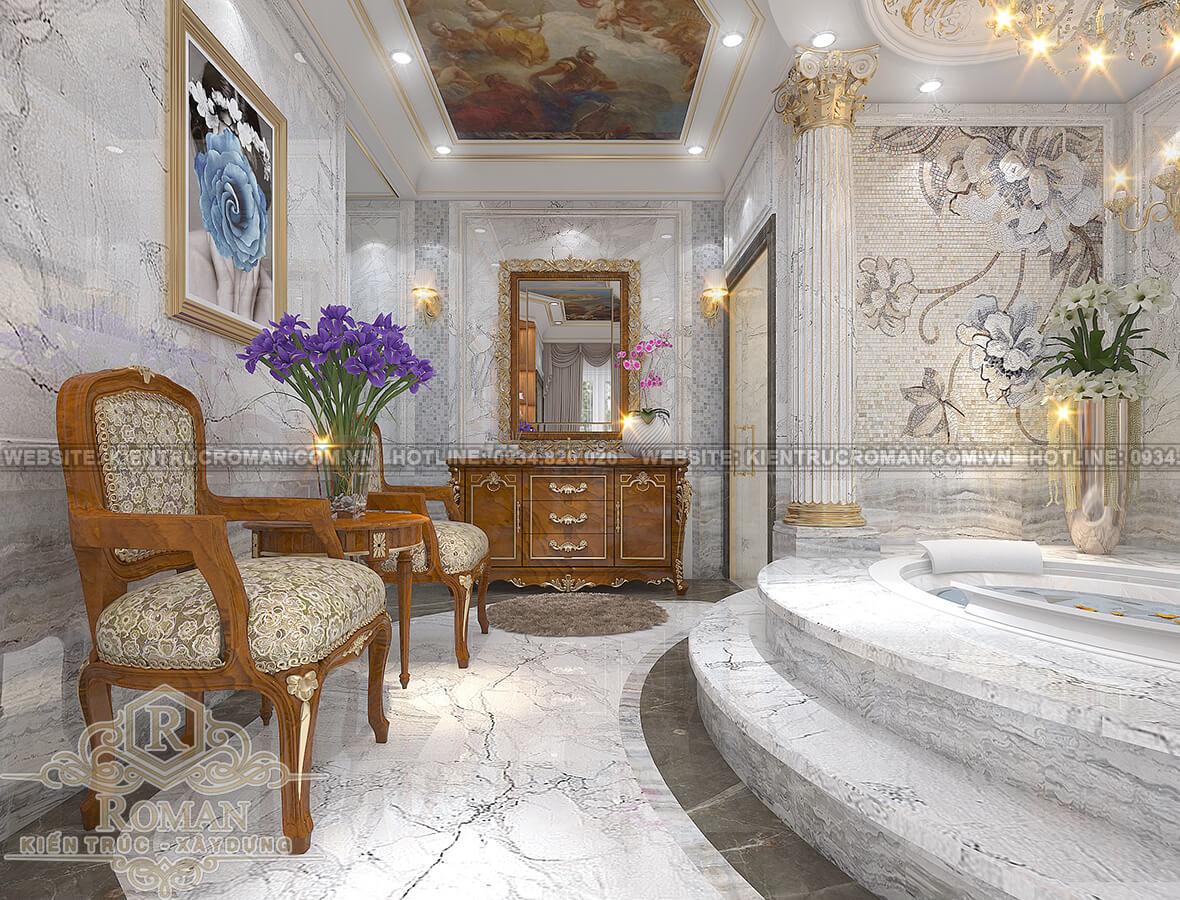 biệt thự tân cổ điển có tầng hầm phòng tắm master