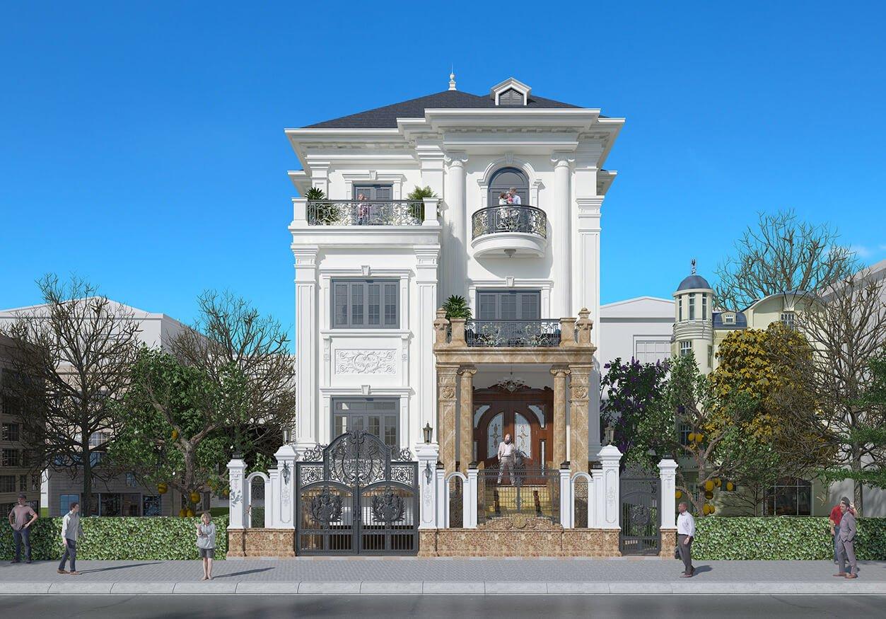 biệt thự tân cổ điển pháp 3 tầng