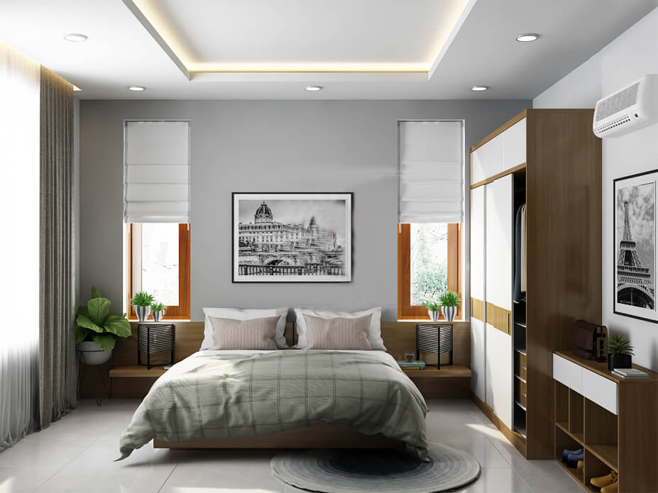 biệt thự villa hiện đại phòng ngủ 3