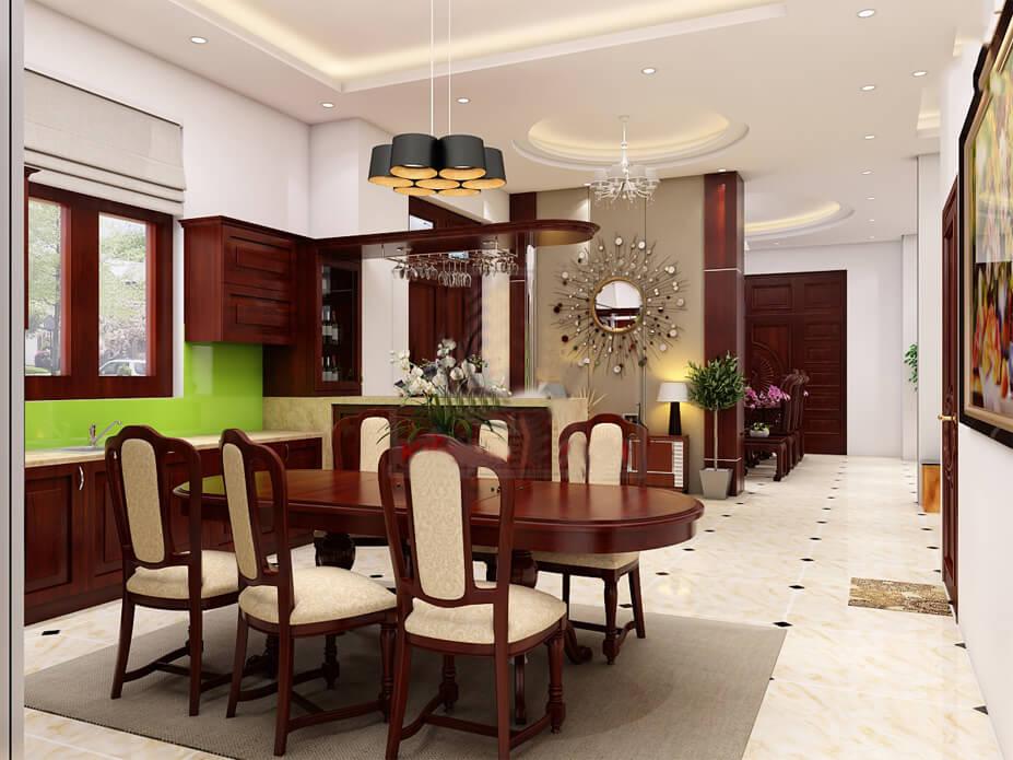 biệt thự villa hiện đại phòng ăn