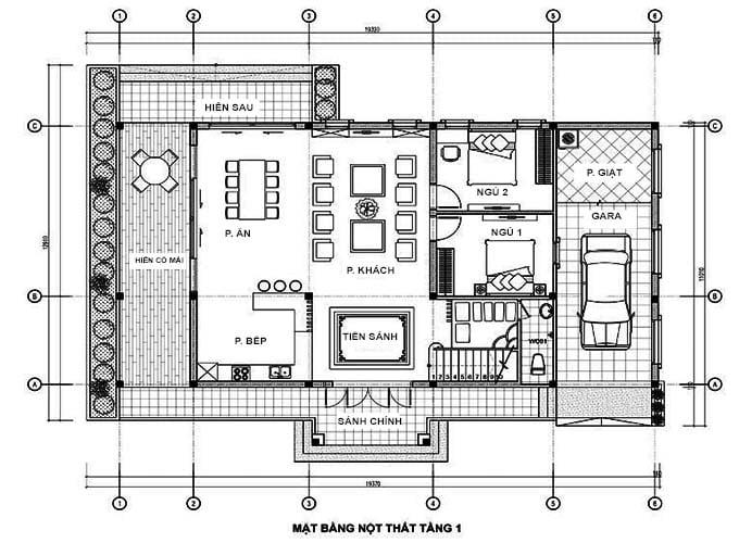 thiết kế biệt thự 2 tầng 4 phòng ngủ đẹp 4