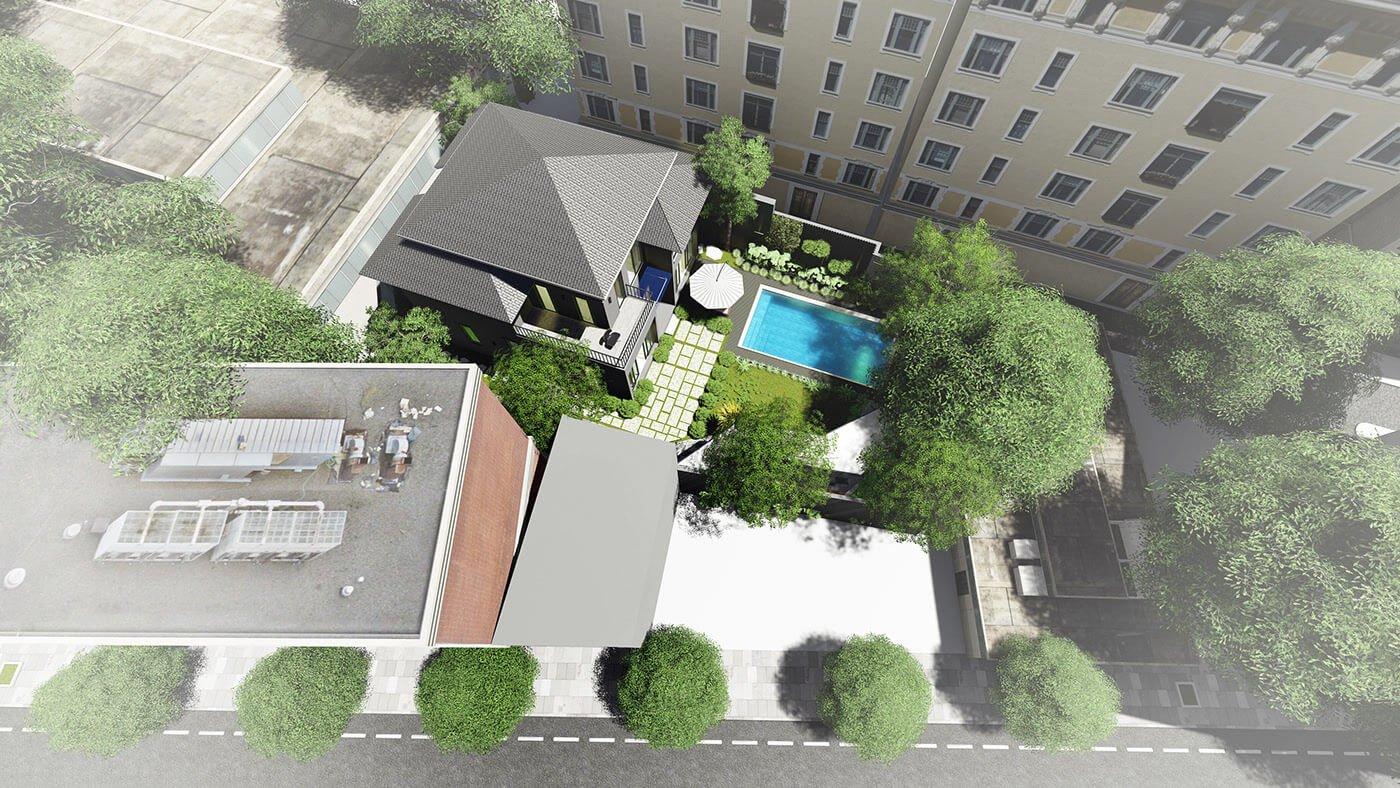 biệt thự vườn 2 tầng hiện đại