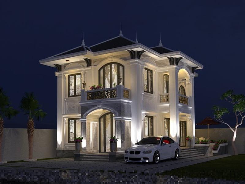 mẫu biệt thự tân cổ điển 2 tầng mái thái 10