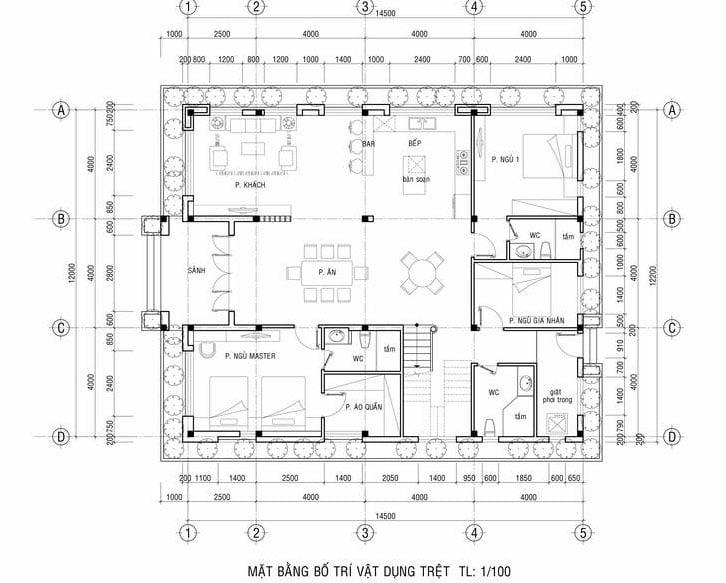 biệt thự vườn 2 tầng mặt tiền 12m