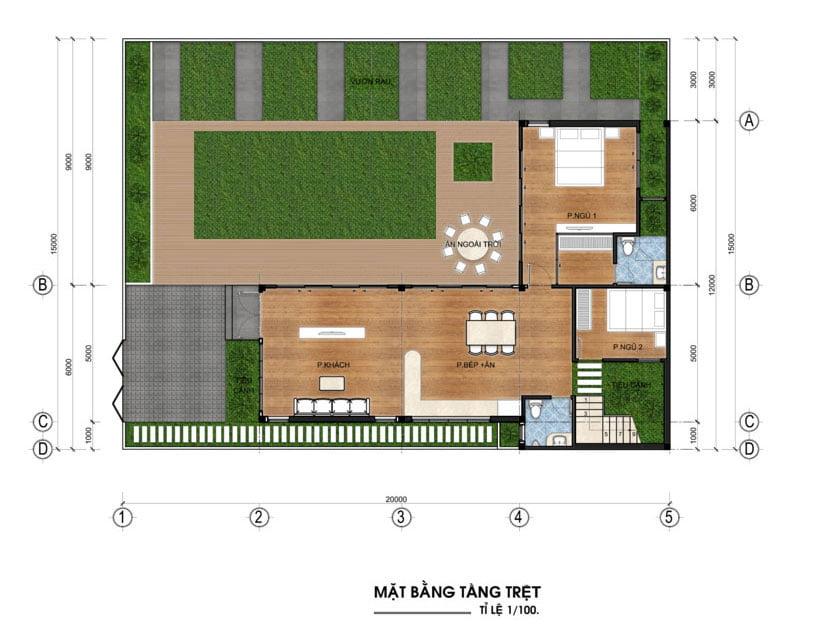 biệt thự vườn 3 tầng 12x20m