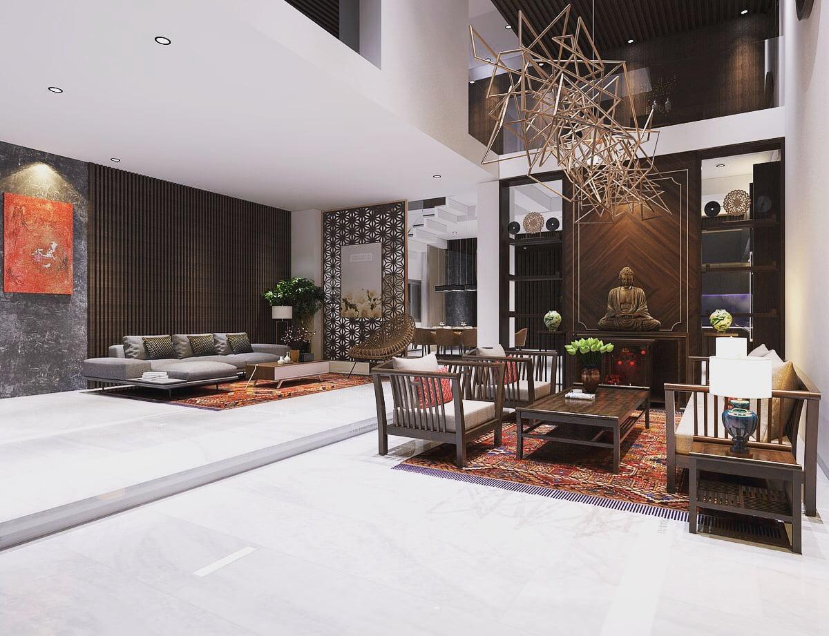 thiết kế biệt thự vườn 3 tầng mái thái 180m2 7