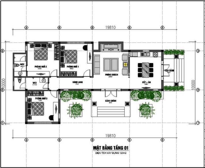 biệt thự vườn cấp 4 120m2