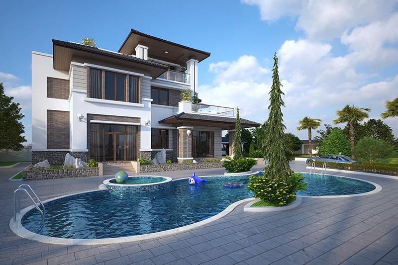 biệt thự vườn có hồ bơi