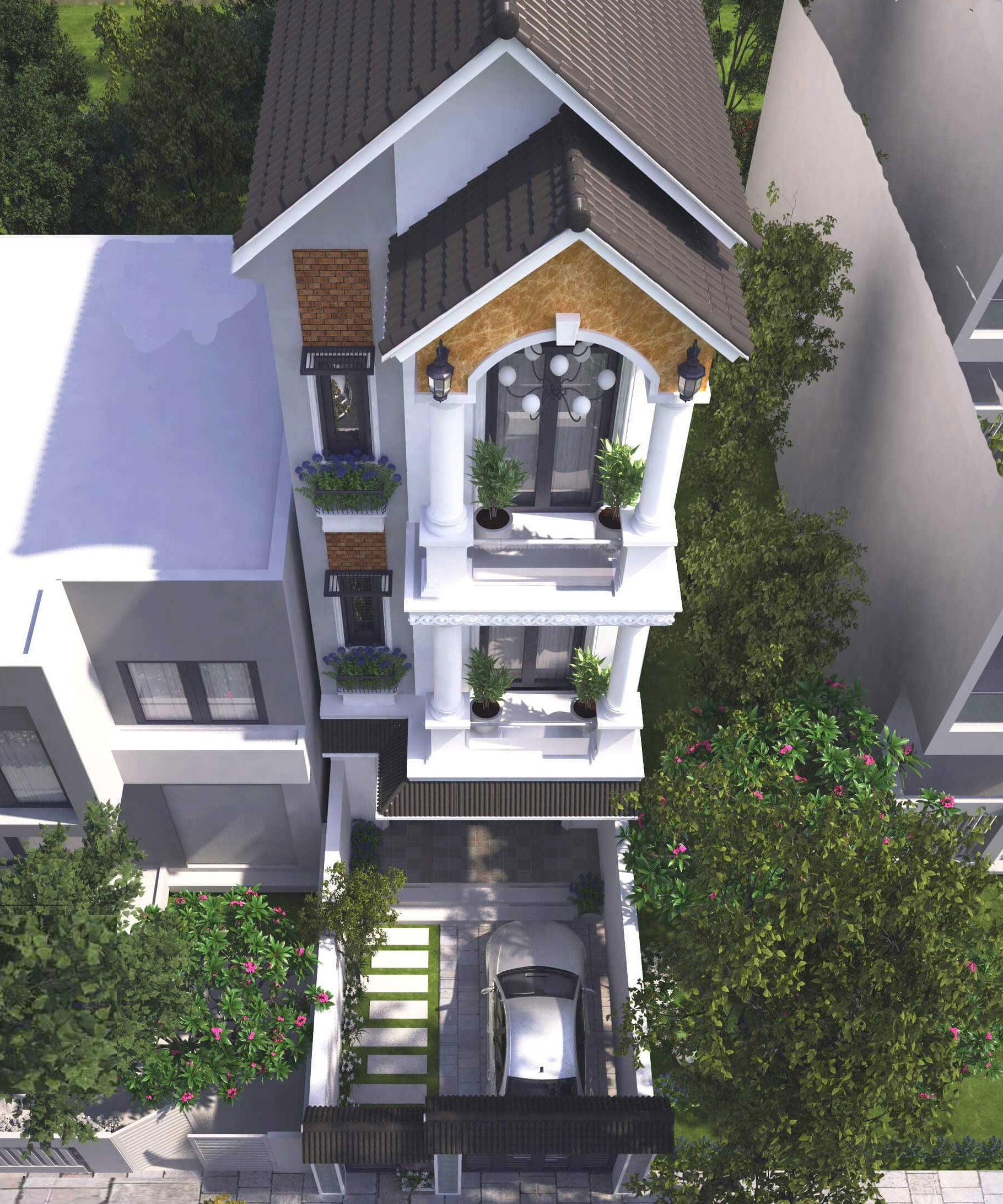Bộ sưu tập các mẫu thiết kế nhà phố kiểu pháp sang trọng