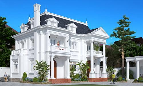 Mẫu biệt thự cổ điển châu âu thiết kế đẹp nhất hiện nay 4
