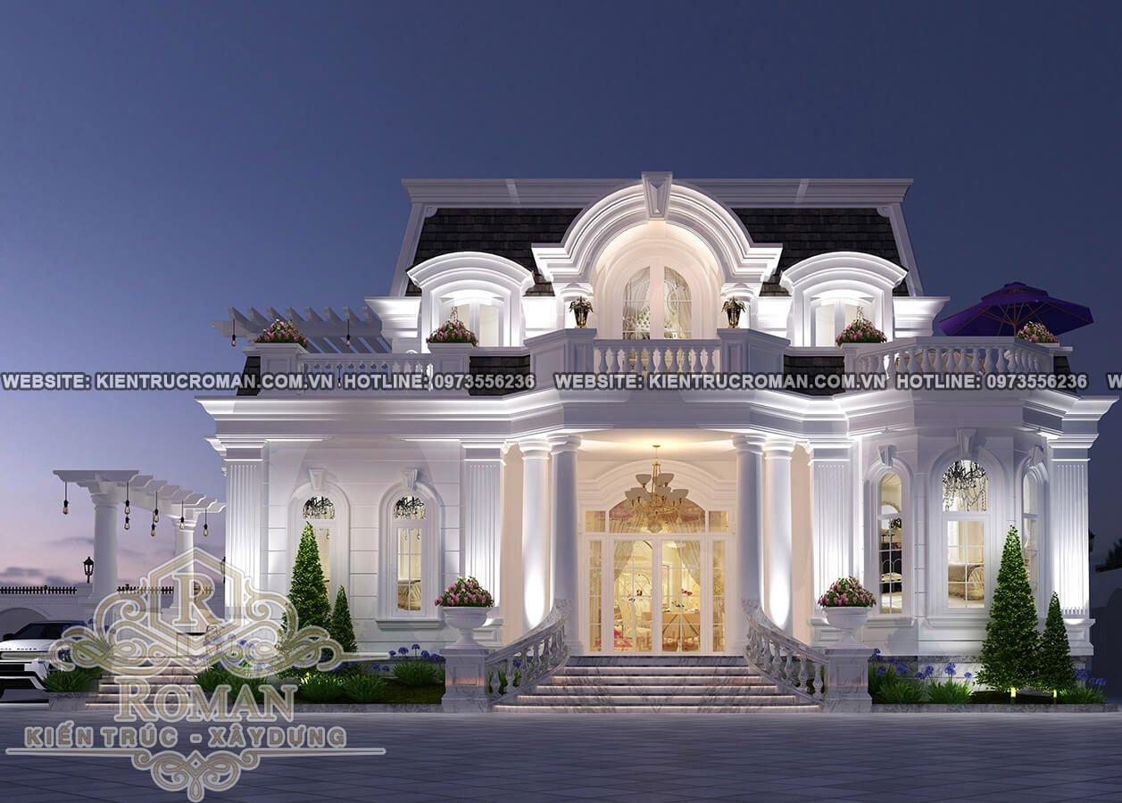 Các mẫu thiết kế biệt thự 2 tầng tân cổ điển thịnh hành nhất hiện nay
