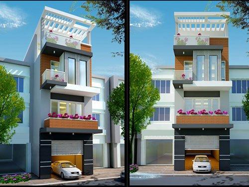 Các mẫu thiết kế nhà phố có gara ô tô tiện lợi nhất hiện nay