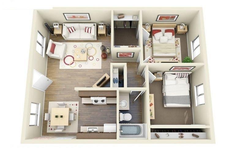 cách bố trí các phòng trong nhà cấp 4 15