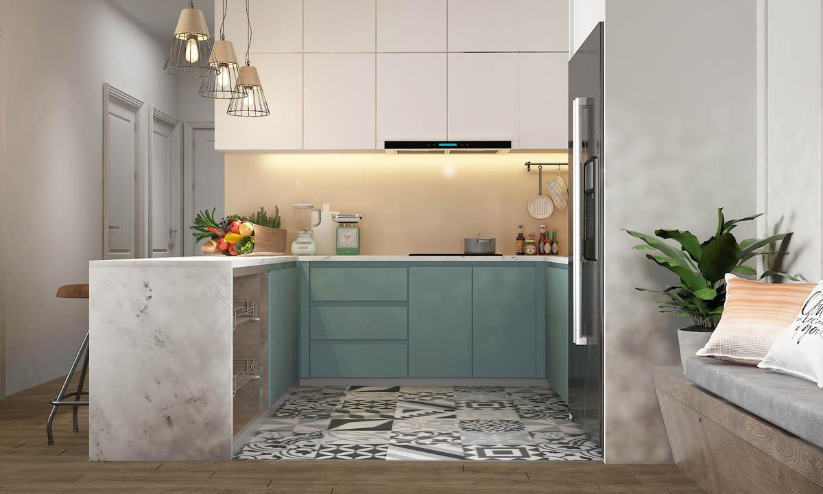 cách kết hợp màu sắc trong thiết kế căn hộ diện tích nhỏ 03