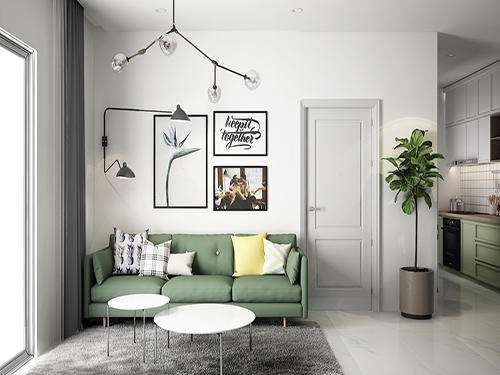 cách kết hợp màu sắc tinh tế trong thiết kế căn hộ diện tích nhỏ