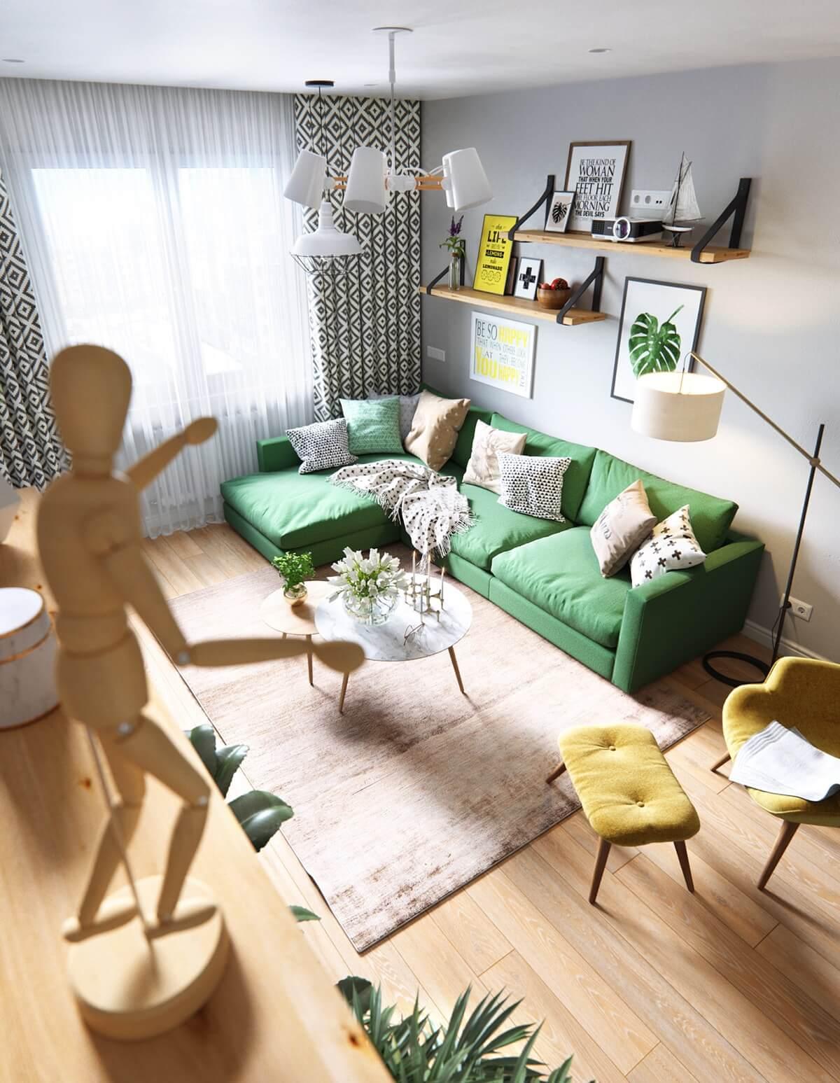 cách trang trí nội thất nhà diện tích nhỏ 01