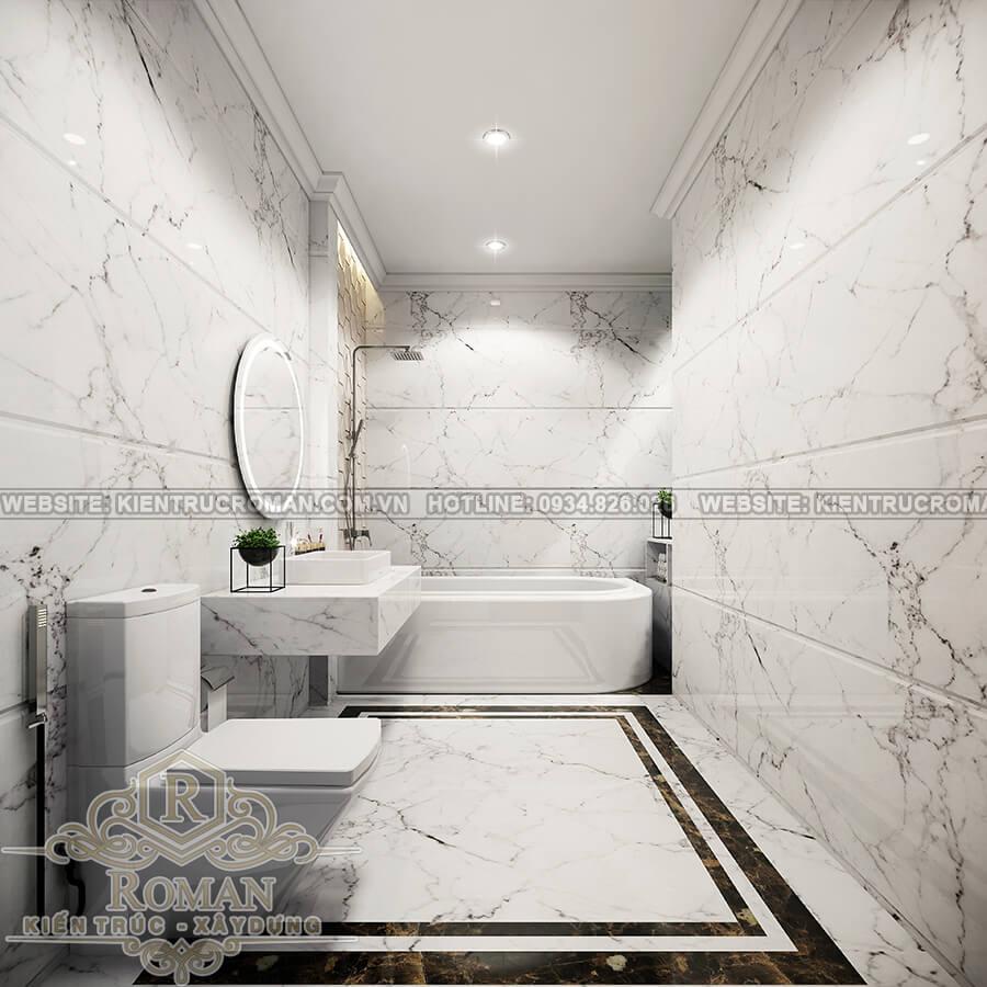 cải tạo nhà ống thành biệt thự phòng tắm master