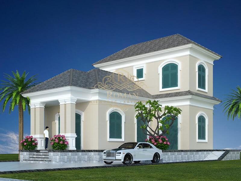 Thiết kế nhà đẹp 2 tầng hiện đại đơn giản tại Long An