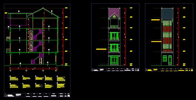đơn giá thiết kế kết cấu nhà phố 2