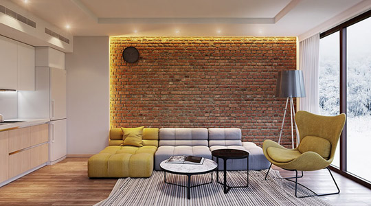 gạch ốp tường phòng khách 8