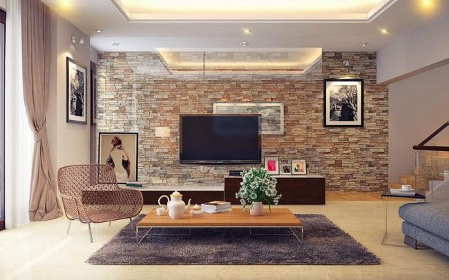 gạch ốp tường phòng khách 9