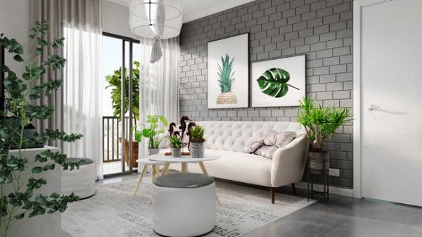 gạch trang trí phòng khách 15