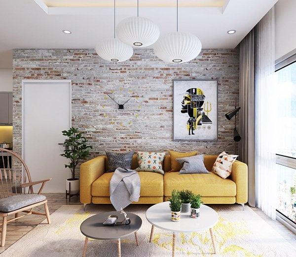 gạch trang trí phòng khách 16