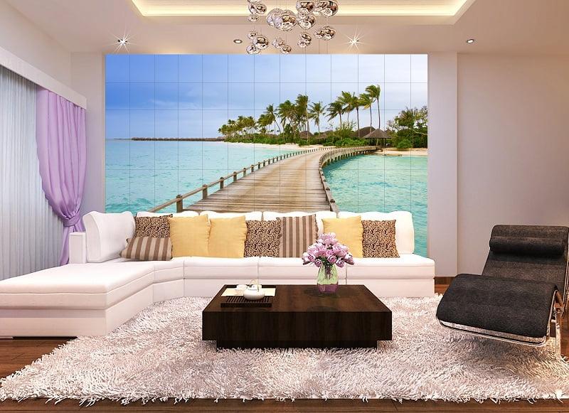 gạch trang trí phòng khách 18