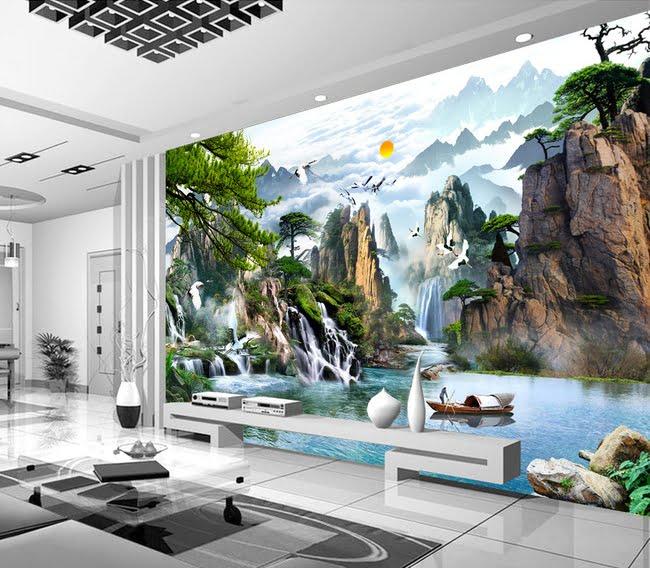 gạch trang trí phòng khách 21