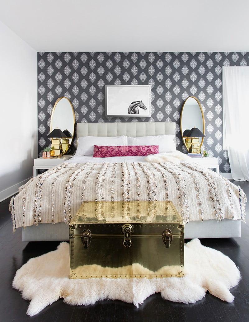 mẫu giấy dán tường cho phòng ngủ 9