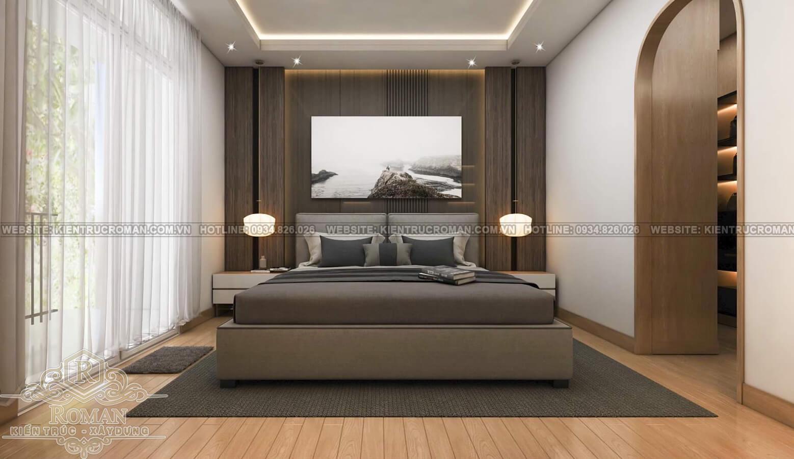 hoàn thiện nội thất nhà phố thiết kế phòng ngủ