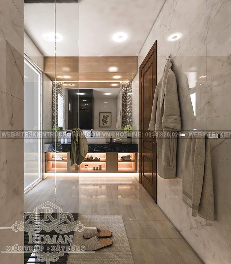 hoàn thiện nội thất nhà phố phòng tắm
