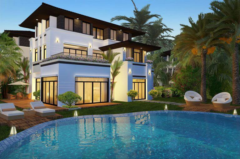 Khám phá mẫu thiết kế biệt thự có hồ bơi đẹp mê mẫn hiện nay