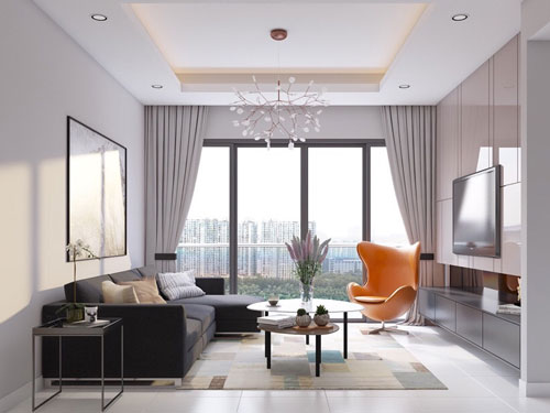 Khám phá mẫu thiết kế nội thất căn hộ 80m2 siêu tiện nghi