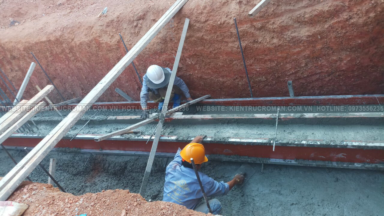 đào móng biệt thự phố mặt tiền 10m