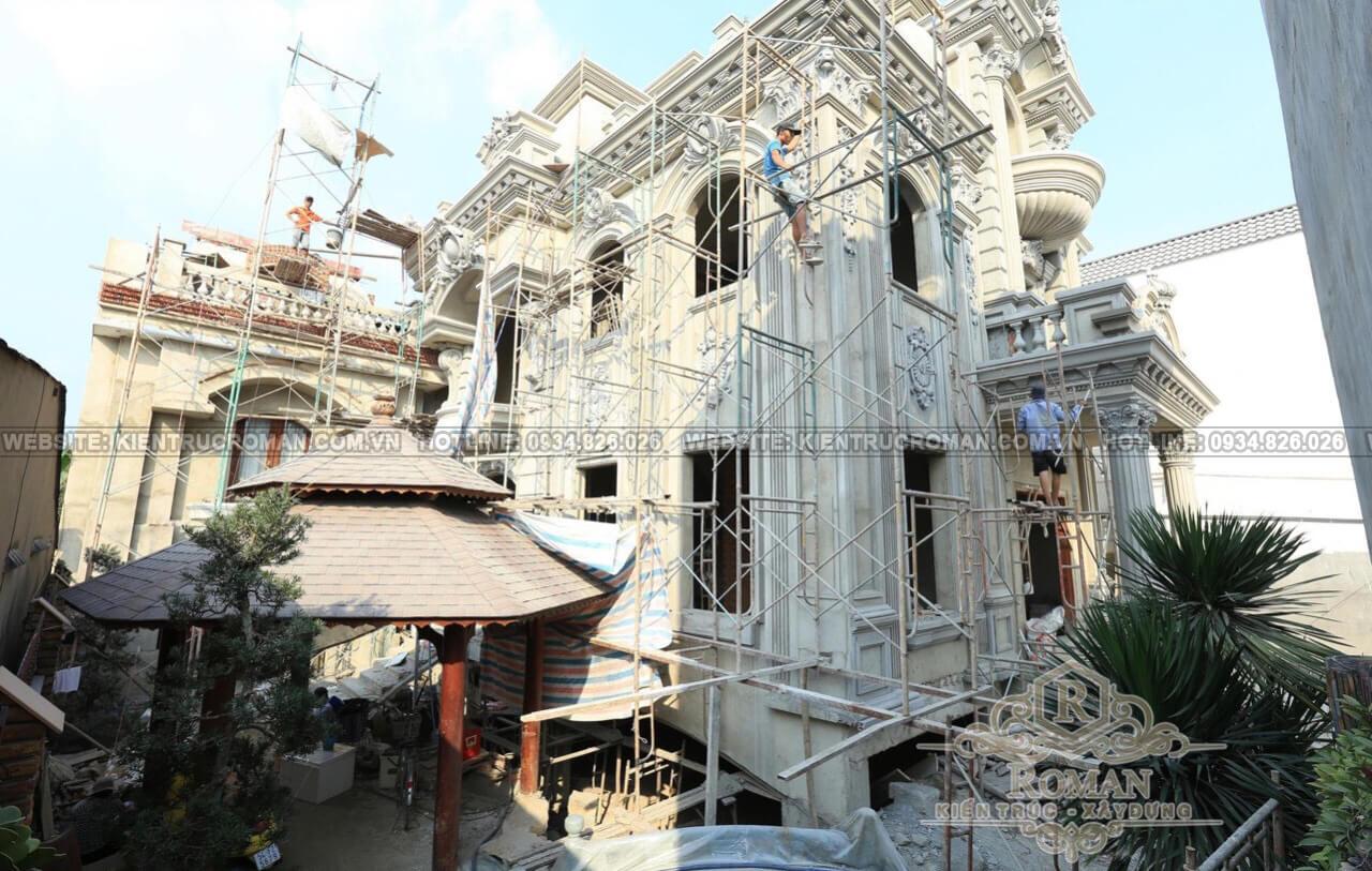 kiến trúc biệt thự pháp 4 tầng