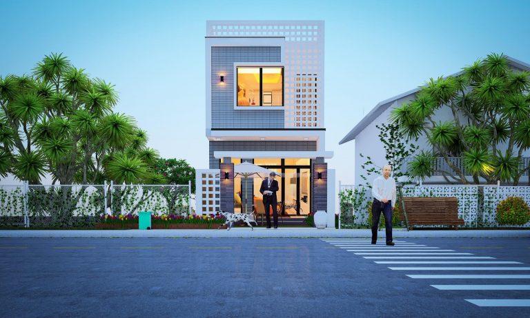 kiến trúc nhà 400 triệu 21