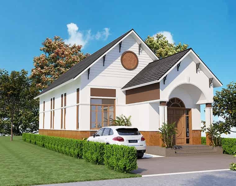 kiến trúc nhà 400 triệu 3