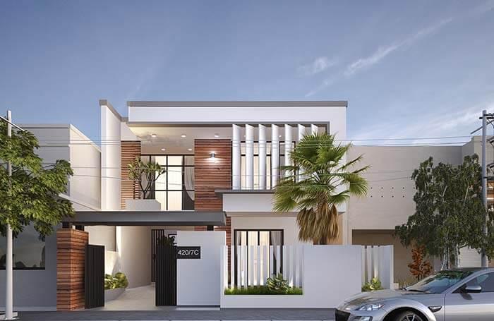 kiến trúc nhà đẹp 2 tầng 1