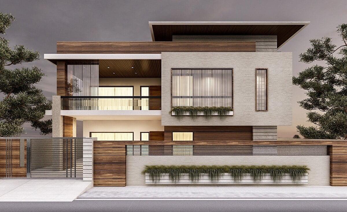 kiến trúc nhà đẹp 2 tầng 10