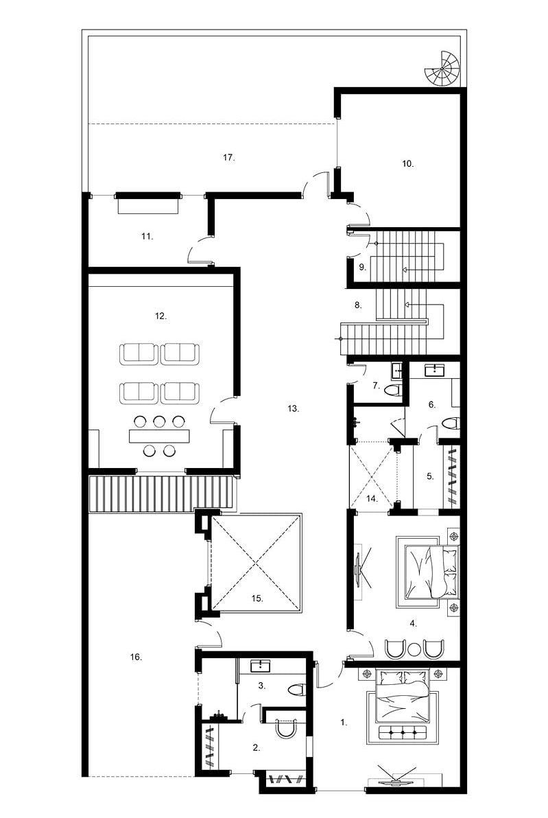 mặt bằng biệt thự 2 tầng 10