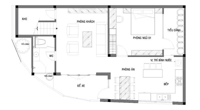 mặt bằng biệt thự 2 tầng 16